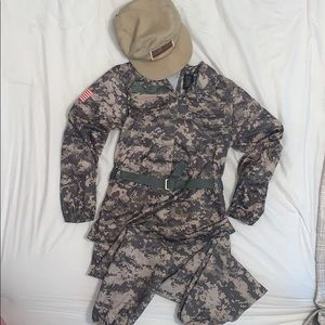 Military costume. Size 8